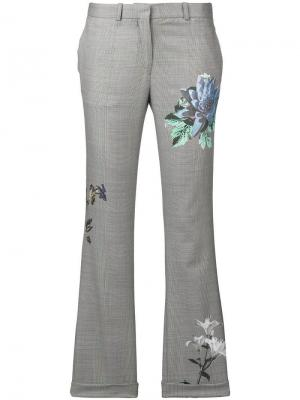 Floral print tailored trousers Each X Other. Цвет: серый