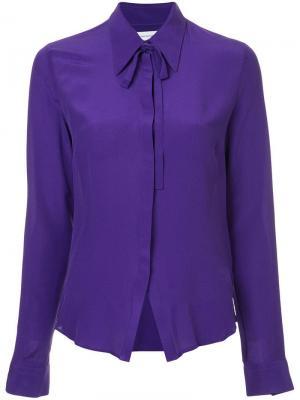 Рубашка с завязкой на воротнике Costume National. Цвет: фиолетовый