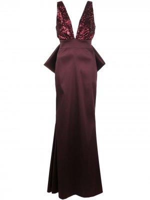 Вечернее платье Topanga с пайетками Sachin & Babi. Цвет: красный