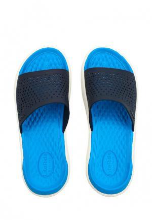 Сланцы Crocs. Цвет: синий