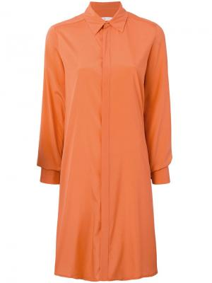 Платье рубашка прямого кроя A.F.Vandevorst. Цвет: желтый