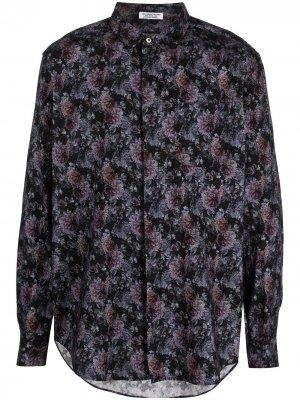 Рубашка с цветочным принтом Engineered Garments. Цвет: фиолетовый