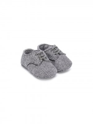 Туфли с принтом в елочку Il Gufo. Цвет: серый