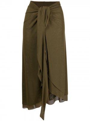 Сетчатая юбка-саронг Fisico. Цвет: зеленый