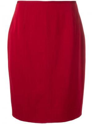 Юбка прямого кроя 1980-х годов Jean Paul Gaultier Pre-Owned. Цвет: красный