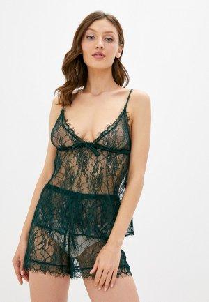 Пижама womensecret women'secret. Цвет: зеленый