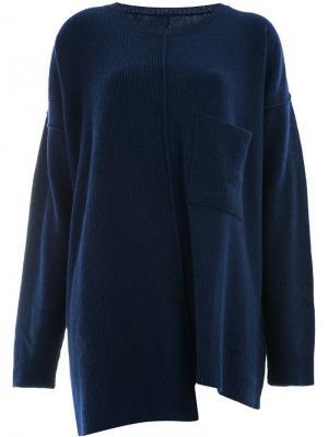 Асимметричный джемпер Yohji Yamamoto. Цвет: синий