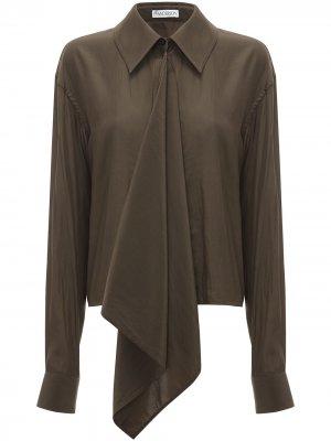 Блузка с драпировкой JW Anderson. Цвет: зеленый