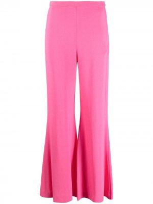 Расклешенные брюки с завышенной талией M Missoni. Цвет: розовый