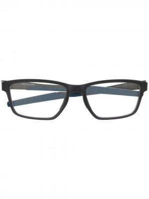 Очки Metalink в прямоугольной оправе Oakley. Цвет: серый