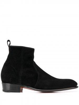 Ботинки на молнии Santoni. Цвет: черный
