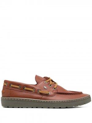 Топсайдеры со шнуровкой adidas. Цвет: коричневый