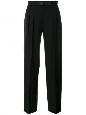 Прямые строгие брюки Victoria Beckham. Цвет: черный