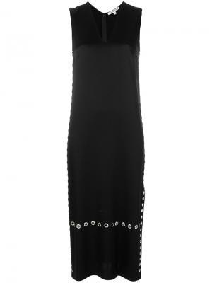 Длинное платье с люверсами Elizabeth And James. Цвет: черный