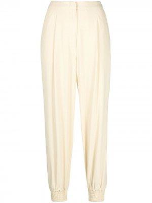 Зауженные брюки с завышенной талией Erika Cavallini. Цвет: желтый