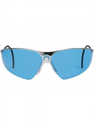 Солнцезащитные очки Visionizer из коллаборации с Marine Serre Gentle Monster. Цвет: синий