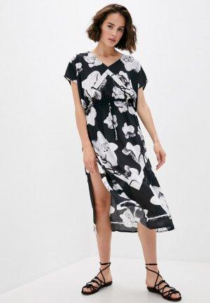 Платье пляжное Karl Lagerfeld Beachwear. Цвет: черный