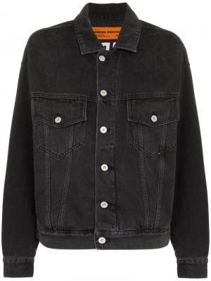 Джинсовая куртка Heron Preston. Цвет: черный