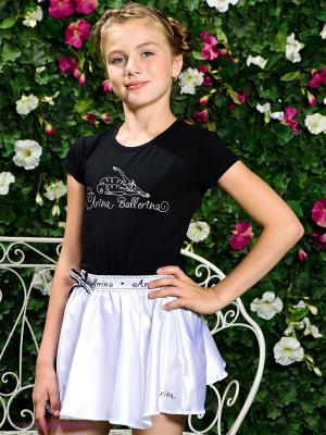 Футболка Arina Ballerina. Цвет: черный