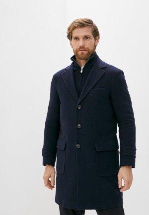 Пальто Eleventy. Цвет: синий
