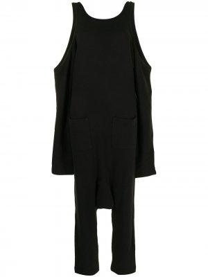 Комбинезон с низким шаговым швом Yohji Yamamoto. Цвет: черный