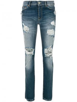 Состаренные джинсы Htc Los Angeles. Цвет: синий