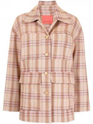 Клетчатая куртка на пуговицах Manning Cartell. Цвет: розовый