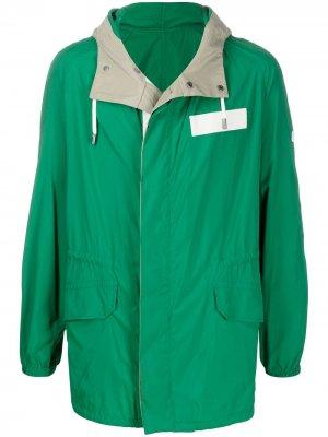 Легкая куртка на молнии YVES SALOMON HOMME. Цвет: зеленый