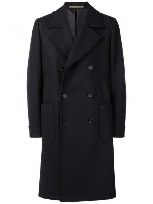 Double breasted coat Ps By Paul Smith. Цвет: синий