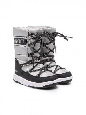 Зимние сапоги Moon Boot Kids. Цвет: серый