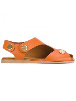 Сандалии с открытым носком Stella McCartney. Цвет: желтый