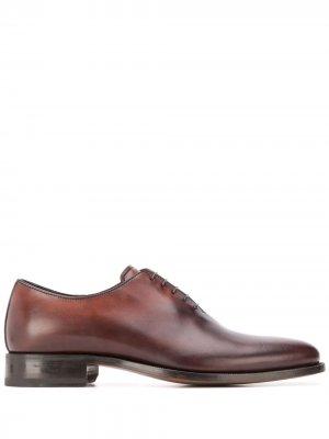 Оксфорды Gianluca на шнуровке Scarosso. Цвет: коричневый
