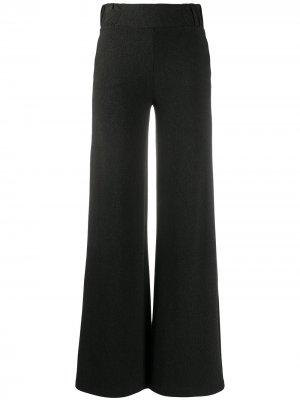Креповые расклешенные брюки Hailee Le Petite Robe Di Chiara Boni. Цвет: серый
