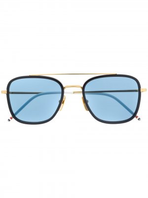 Солнцезащитные очки-авиаторы Thom Browne Eyewear. Цвет: золотистый