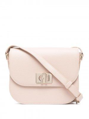Мини-сумка с застежкой Furla. Цвет: розовый