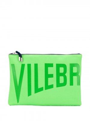 Клатч с логотипом Vilebrequin. Цвет: зеленый