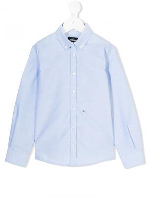 Классическая рубашка Dsquared2 Kids. Цвет: синий