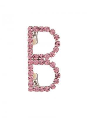 Серьга-кафф Brave Barbara Bologna. Цвет: розовый