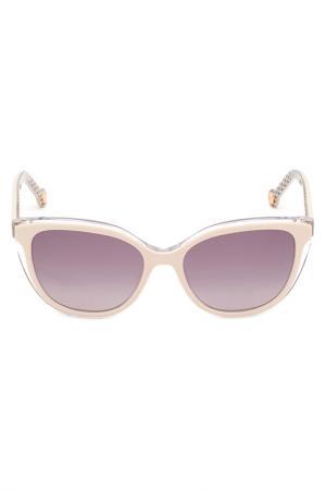 Солнцезащитные очки Carolina Herrera. Цвет: белый