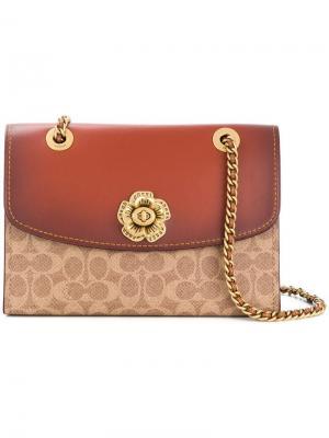 Двухцветная сумка Parker Coach. Цвет: коричневый
