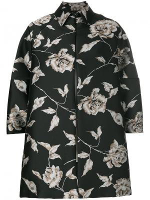 Свободная куртка с цветочным принтом Antonio Marras. Цвет: черный