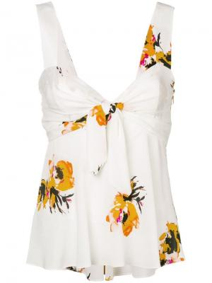 Floral babydoll camisole A.L.C.. Цвет: белый