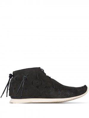 Ботинки дезерты с вышивкой visvim. Цвет: черный