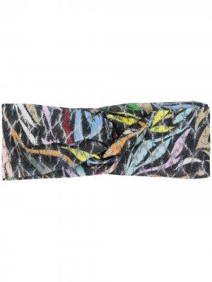 Резинка для волос с принтом Missoni. Цвет: черный