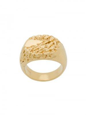 Перстень Rock Maria Black. Цвет: золотистый