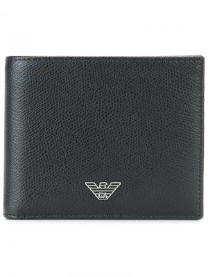 Классический бумажник Emporio Armani. Цвет: черный