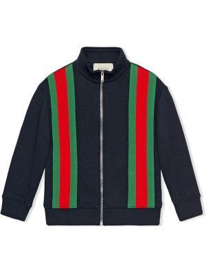 Childrens sweatshirt with Web Gucci Kids. Цвет: синий