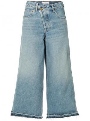 Широкие джинсы Monse. Цвет: синий