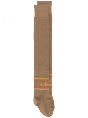 Длинные гольфы Chloé. Цвет: коричневый
