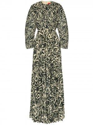 Плиссированное платье макси Taima Solace London. Цвет: разноцветный